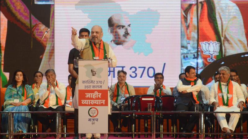 Targeting Nehru over 'non-integration' of Kashmir with India, Amit Shah said Sardar Vallabhbhai Patel, the country's first home minister, should have handled the issue, instead of the then prime minister.(Photo: DC)