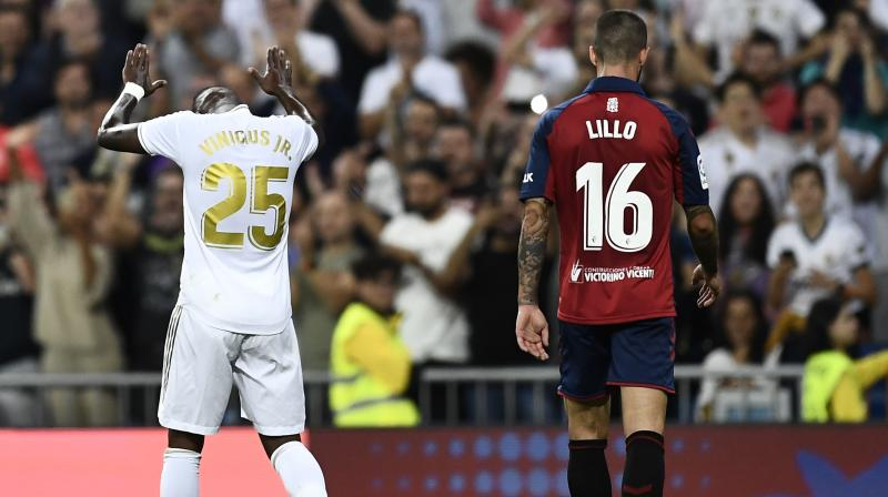 Real Madrid's teenage Brazilian duo Vinicius Junior and Rodrygo Goes sent them top of La Liga as both scored in a 2-0 win over Osasuna on Wednesday. (Photo:AFP)