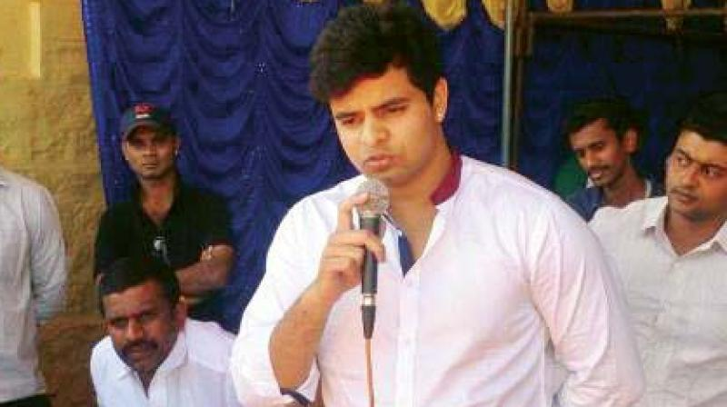 JD(S) candidate Prajwal Revanna.