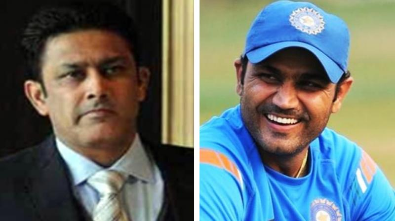 Former skipper Anil Kumble's ability to boost confidence of the players makes him an ideal candidate for the role of chairman of selectors, said Virender Sehwag, who also advocated a hike in remuneration for the job. (Photo:AFP/FIle)