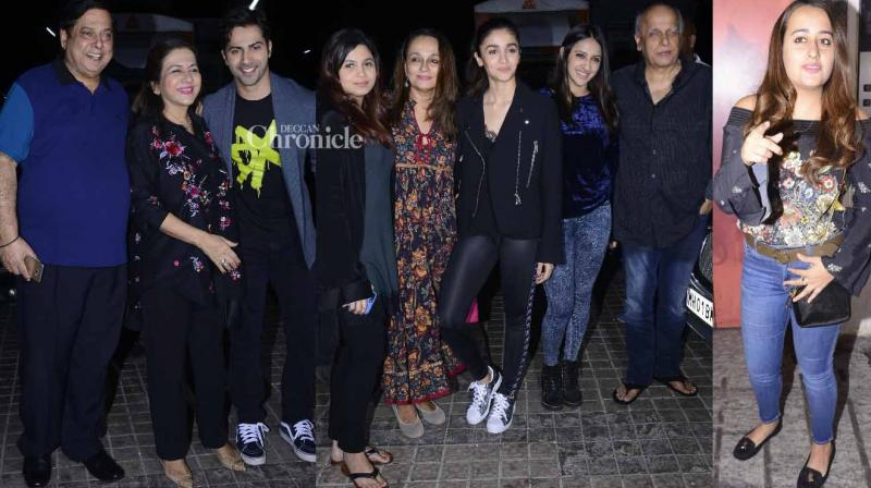 The team of 'Badrinath Ki Dulhania' held a screening of their film in Mumbai on Monday. (Photo: Viral Bhayani)