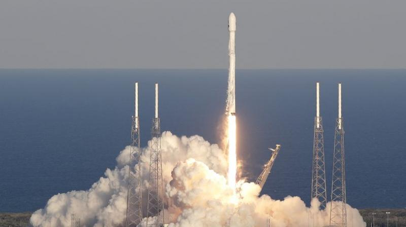The newly minted Block-5 edition of the Falcon 9 - equipped with about 100 upgrades for greater power, safety and reusability than its Block-4 predecessor - lifted off at 4:14 p.m. EDT (2014 GMT) from the Kennedy Space Center.