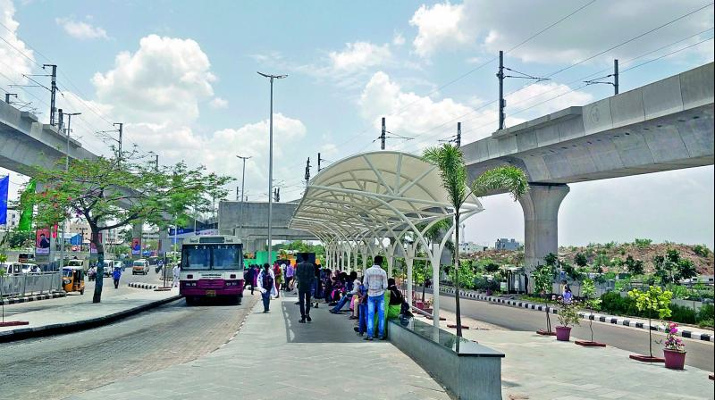 The newly-installed canopies at the bus stop has come as a relief to commuters.