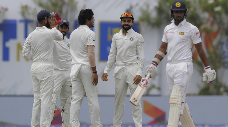 Virat Kohli's India outplayed Rangana Herath-led Sri Lanka by 304 runs inside four days to win the first Test. (Photo: AP)