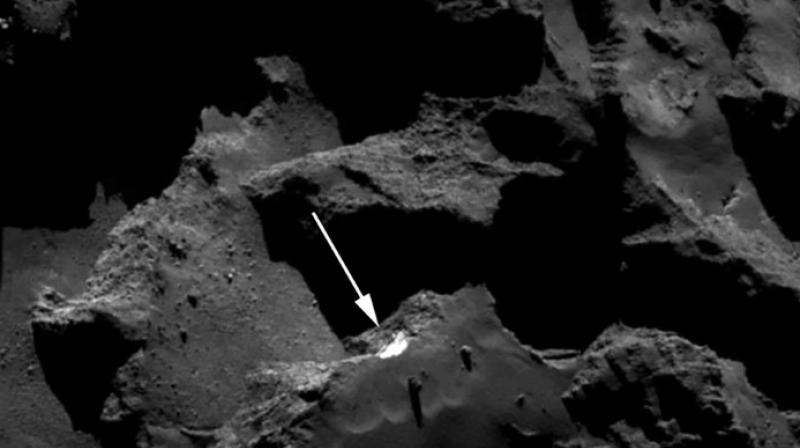 Images captured by the Rosetta spacecraft provided the first direct evidence of cometary landslides