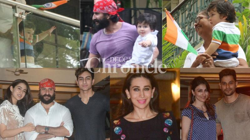 Saif Ali Khan and his good-looking children's moments were the highlights of the paparazzi diary on Wednesday. (Photos: Viral Bhayani)