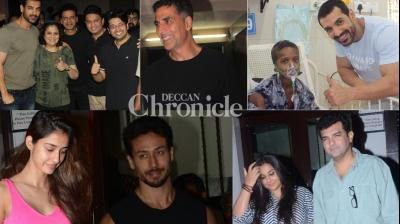 Stars whose films released, couples, and other stars were clicked by the cameras in Mumbai on Wednesday. (Photos: Viral Bhayani)