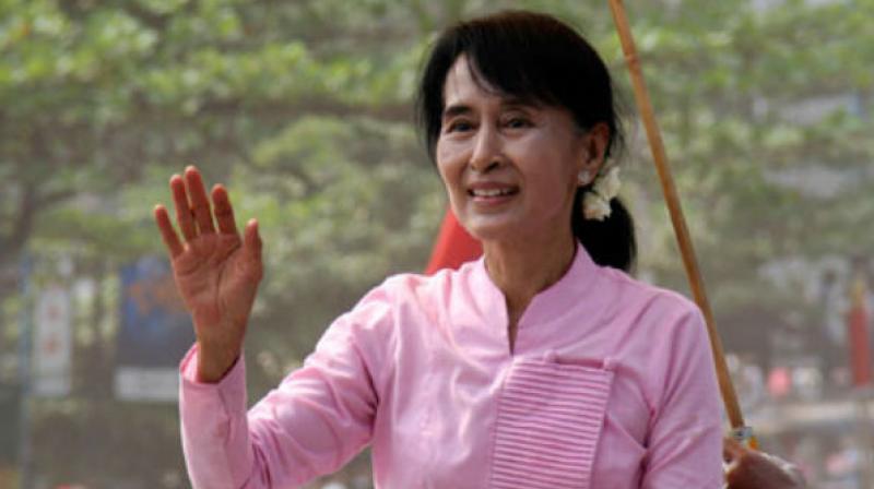 Myanmar leader Aung San Suu Kyi. (Photo: AFP)