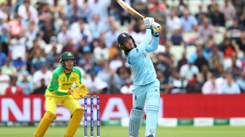 The Surrey opener had made 85 to set England well on their way to a victory target of 224. (Photo: Cricket World Cup/Twitter)