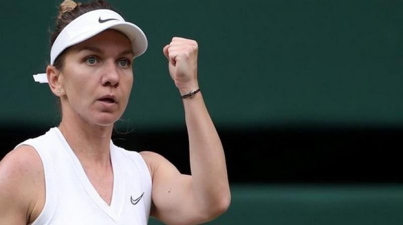 Halep took full advantage of the opportunity to peg the seven time Wimbledon champ to easily win the second set 6-2, to win her maiden All England Club title. (Photo: ANI)