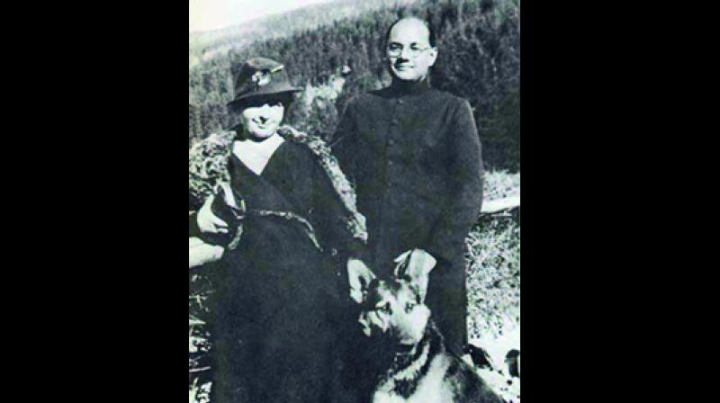 Subhas Chandra Bose with his wife Emilie Schenkl.