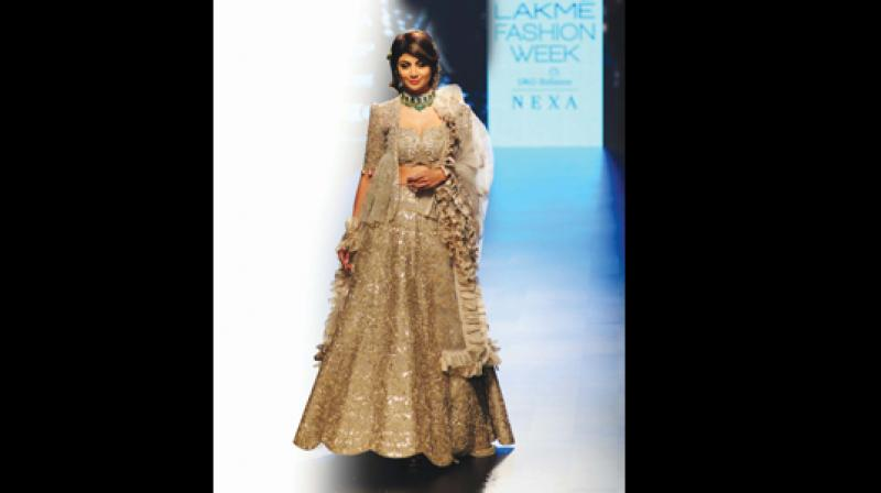 Shilpa Shetty in a Jayanti Reddy creation.