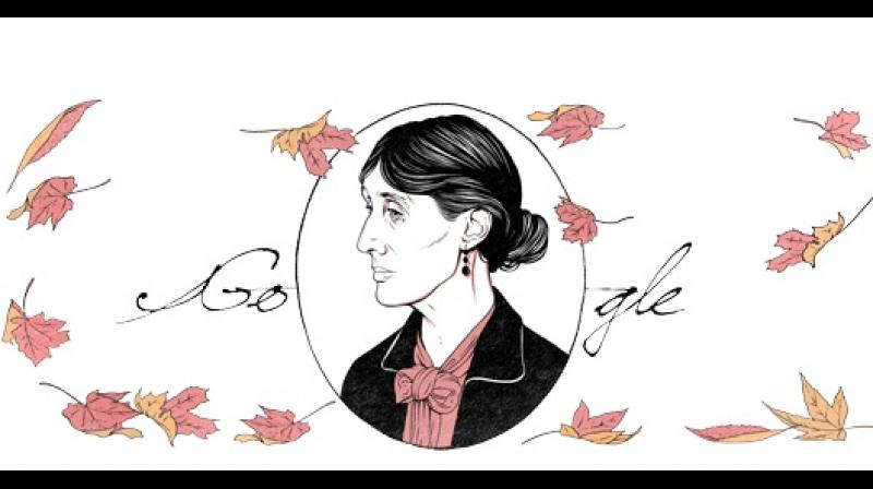 Google Doodle celebrates feminist author Virginia Woolf
