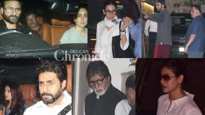 Members of the Kapoor family as well Bollywood stars visited Shashi Kapoor's residence in Mumbai after his death on Monday. (Photo: Viral Bhayani)