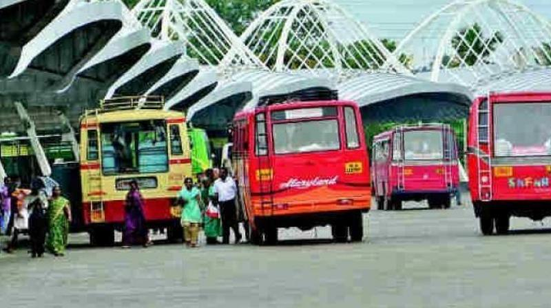 The employees' unions have been demanding merger of the RTC with the government, recruitment to various posts, job security to drivers and conductors