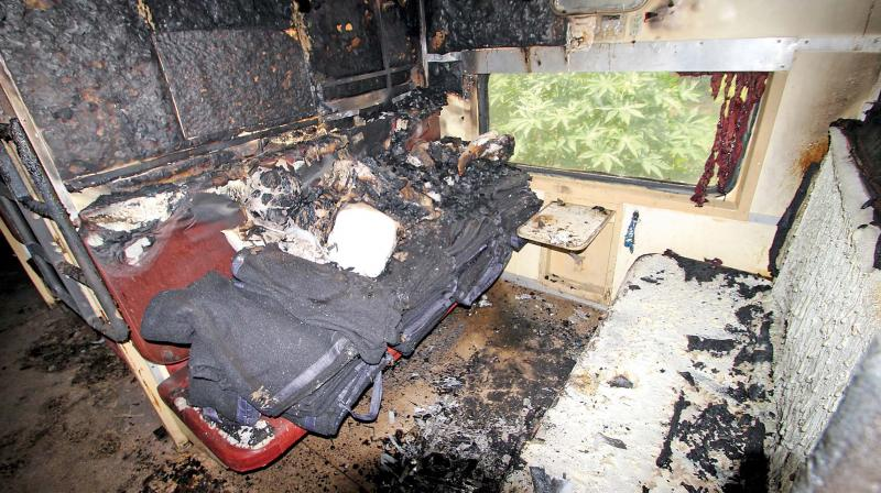 Preliminary investigations revealed that a gas leakage in the air-conditioned compartment could have caused the fire.