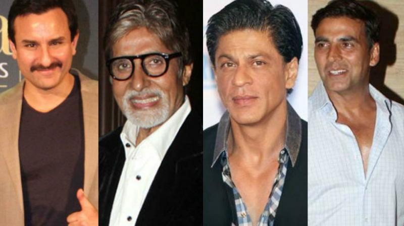 Saif Ali Khan, Amitabh Bachchan, Shah Rukh Khan and Akshay Kumar.