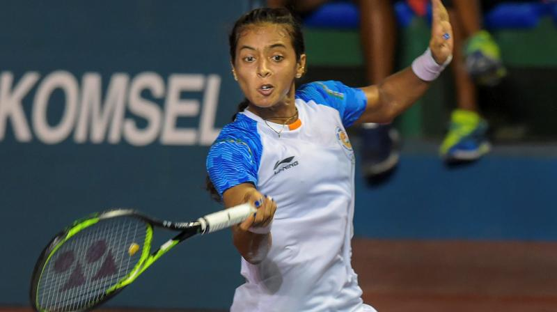 With Thursday's bronze, the 25-year-old Ankita became only the second Indian woman to have her name in the Asian Games' singles medallists list. (Photo: PTI)