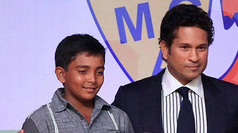 "Recalling his impressions of Shaw, who barely reached the stumps, Tendulkar had later told his friend: ""Are you watching? That's a future India player."" (Photo: PTI)"