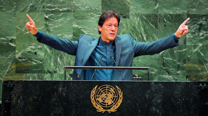 """Pakistan on Saturday rejected India's remarks over Prime Minister Imran Khan's """"provocative"""" speech during UN General Assembly session. (Photo: File)"""
