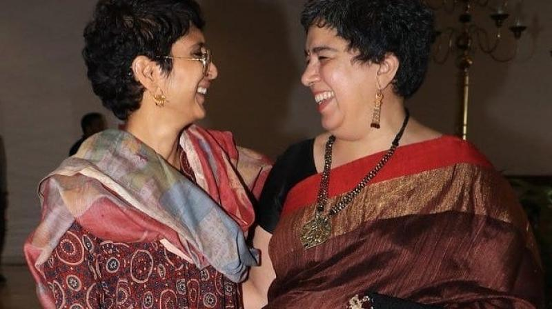 Kiran Rao with Reena Dutta at an event.