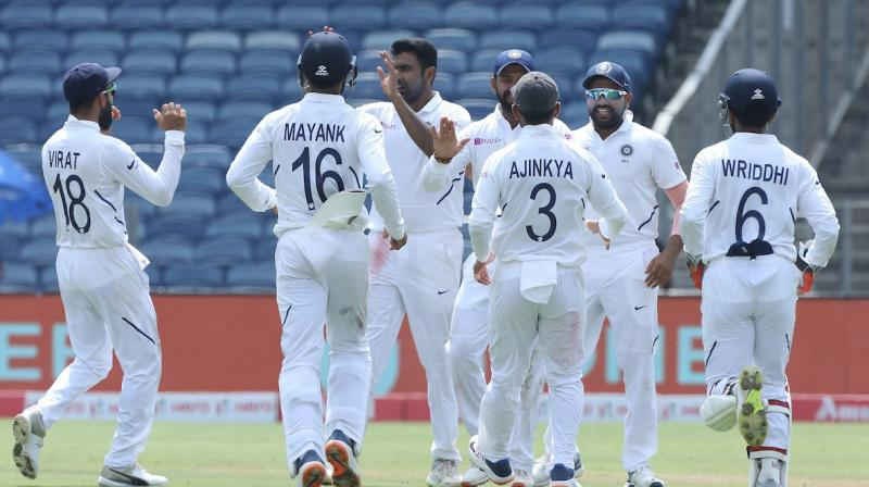 South Africa managed to score 275 runs in their first innings on day three of the second Test match before India bundled out the visitors. (Photo: Twitter/BCCI)
