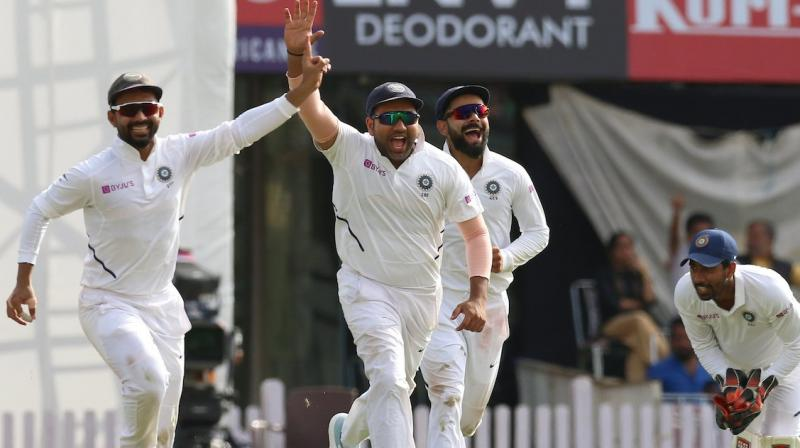 South Africa were 26 for 4 after following on at tea on the third day of the final Test here on Monday. (Photo:BCCI)