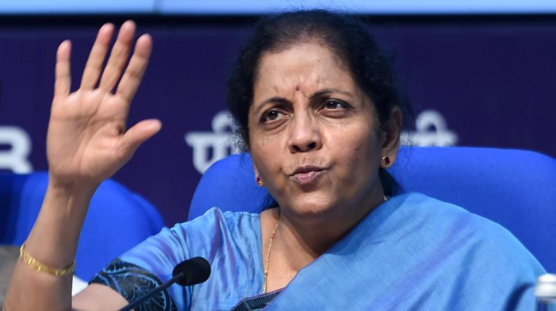 "Delivering a lecture at the prestigious Columbia University's School of International and Public Affairs here on Tuesday, Sitharaman said that giving all the public sector banks a ""lifeline"" is today her primary duty. (Photo: File)"