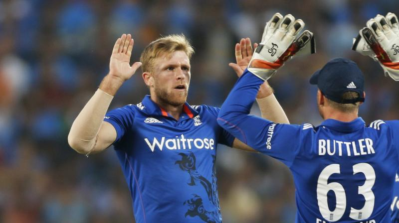 David Willey, a big-hitting batsman and left-arm seam bowler who has taken the new ball for England in limited overs cricket, received his call-up after an injury to India's Kedar Jadhav. (Photo: AP)