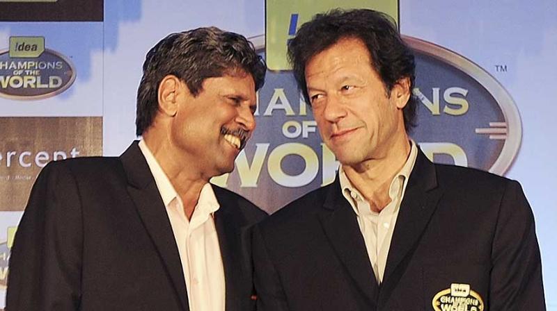Image result for kapil dev with imran khan