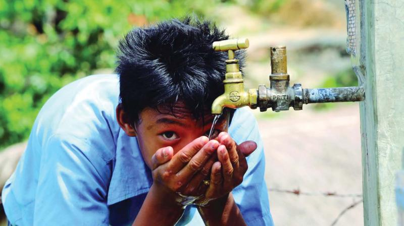 Public taps were brought across the State when the Kerala model of development came into existence in the 1970s.