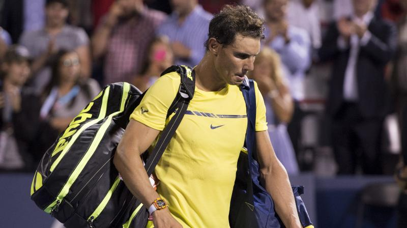 Rafael Nadal had announced the withdrawal from the ATP World Tour Finals citing a knee injury after he was defeated by Belgium's David Goffin in the opening match. (Photo: AFP)