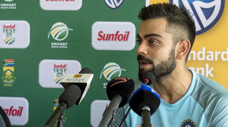 Virat Kohli spoke about the intent that is needed to be shown with perfect blend of defence and attack while batting on these adverse conditions