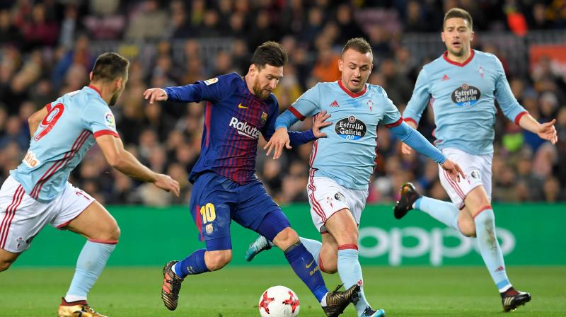 Lionel Messi scored in the 13th and 15th minute oto help Barcelona cruise to victory. (Photo:AP)