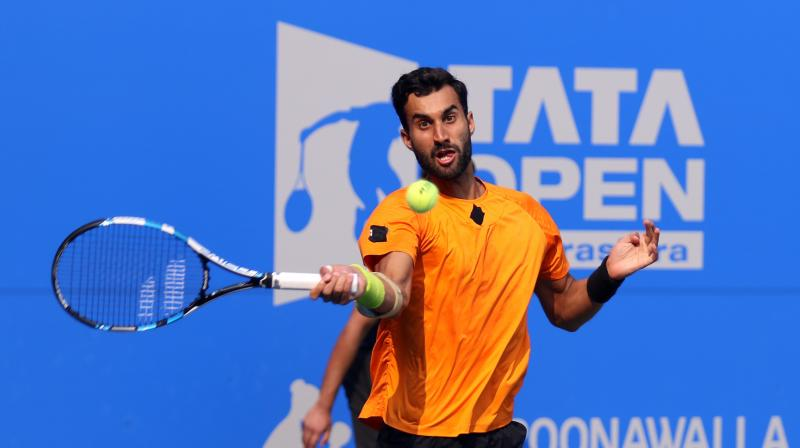 Yuki Bhambri won 54 points in the 57-minute contest, breaking his rival six times in the match. (Photo: DC File)