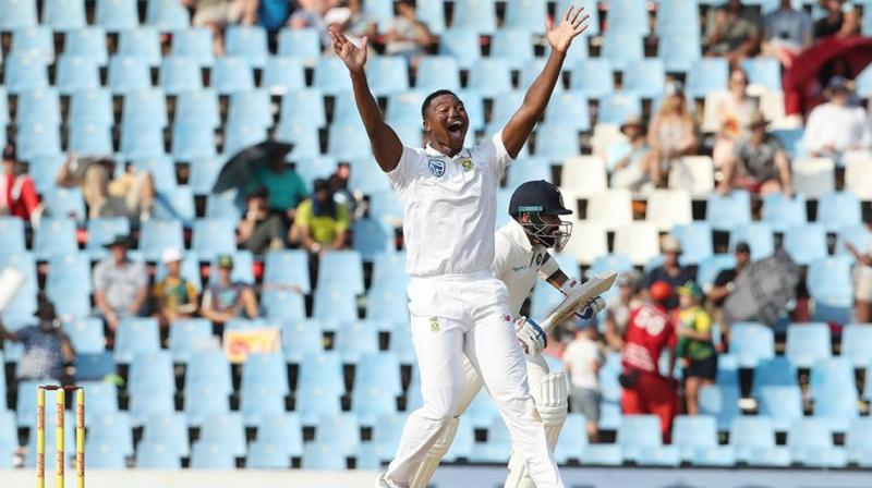 Debutant Ngidi takes first test wicket but Kohli holds firm for India
