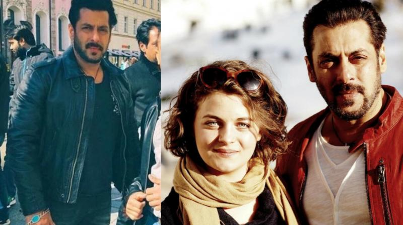 the picture of salman khan with ronja forcher that made its way to social media