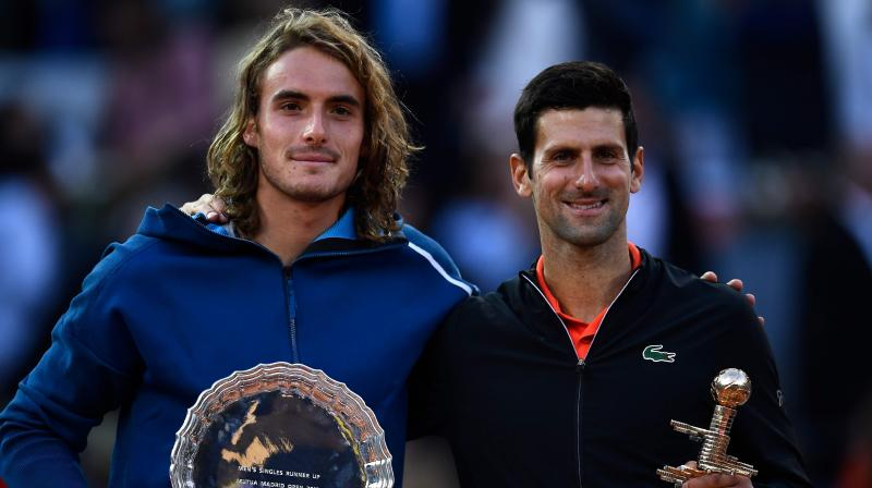 The Greek eighth seed rarely threatened to re-produce the stunning display he had conjured up on Saturday when he knocked out home favourite Nadal, and 15-time Grand Slam winner Djokovic was in command throughout as he continued his impressive French Open preparations. (Photo: AFP)