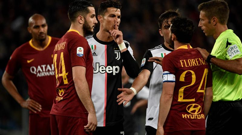 Ronaldo's hopes of finishing the season as the Serie A top scorer are slim as his 21 goals are five behind Sampdoria's Fabio Quagliarella's 26 with two games left.