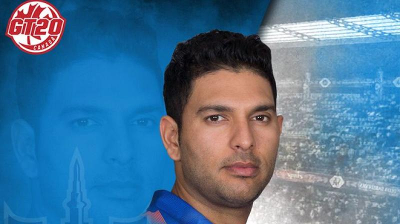 At the time of his retirement, Yuvraj shared his desire of playing in the T20 leagues all around the world. (Photo: GT20 Canada/Twitter)