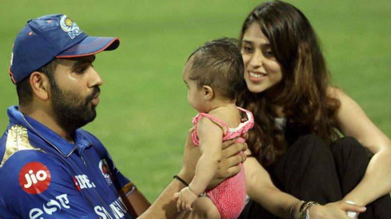 Rohit Sharma's wife Ritika with daughter Samaira have reached England. (Photo: AFP).