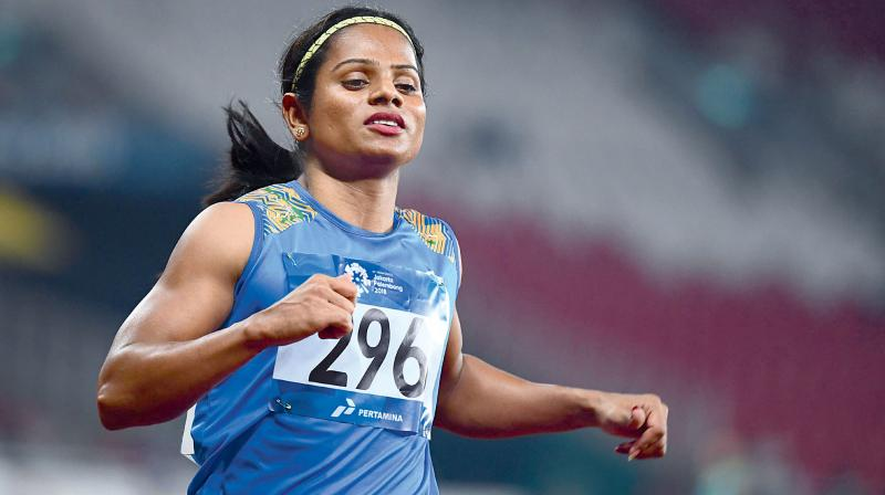 Dutee Chand is the only Indian athlete to win a gold medal in the 100m race at the global event.