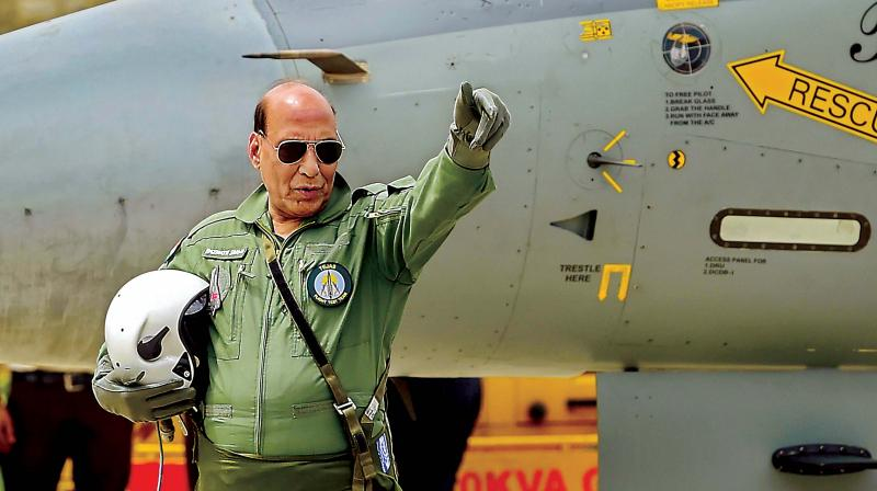 'This marks a new milestone in the Indo-French strategic partnership and indeed a new high in the bilateral defence cooperation,' Rajnath said. (Photo: File)