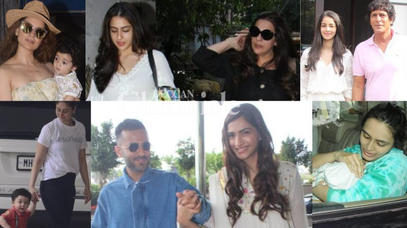Bollywood stars were spotted spending time with their family members, while other stars were also snapped in Mumbai on Sunday. (Photo: Viral Bhayani)