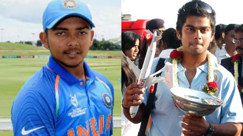 Prithvi Shaw (2018) became the fourth Indian captain after Mohammad Kaif (2000), Virat Kohli (2008) and Unmukt Chand (2012) to win the ICC Under 19 World Cup title. (Photo: BCCI / AFP)