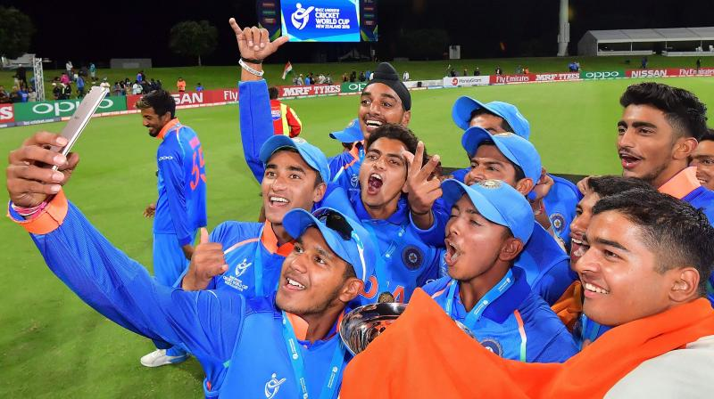 India became the first country to win the ICC Under-19 Cricket World Cup four times. (Photo: AFP)