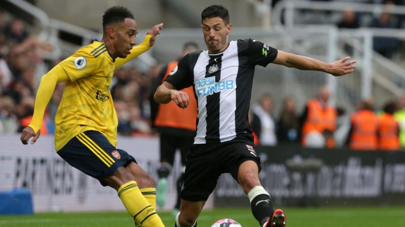 Steve Bruce's reign as Newcastle United manager began in disappointing fashion as Pierre-Emerick Aubameyang's second-half goal sealed a 1-0 victory for Arsenal at a subdued St James' Park on Sunday.  (Photo:AFP)