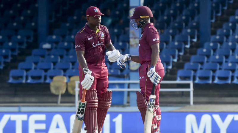 Chasing 270 in 46 overs, West Indies were in a good position at 179/4, but successive wickets of Nicholas Pooran and Roston Chase derailed the chase, and in the end, the side lost the match by 59 runs. (Photo:AP)