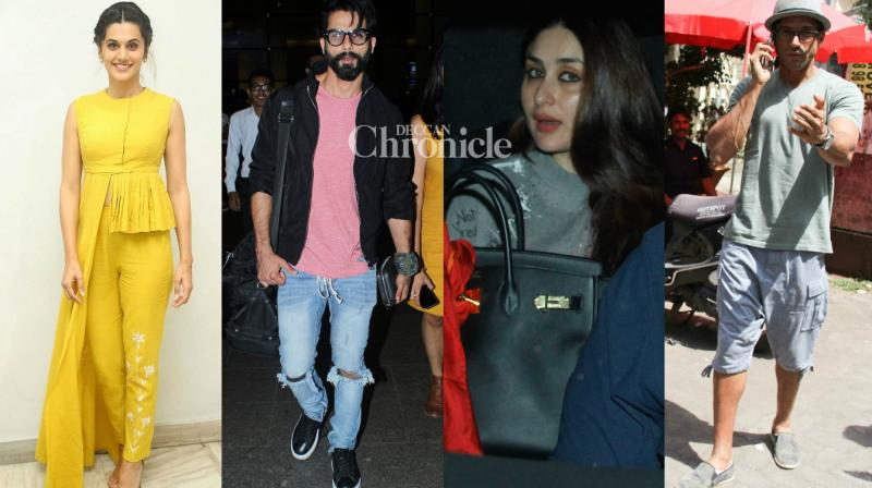 Bollywood stars were spotted by the paparazzi as they stepped out in Mumbai on Sunday. (Photo: Viral Bhayani)