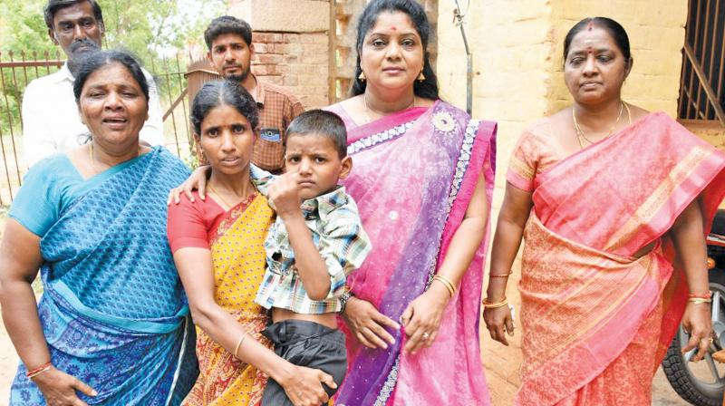 The boy reunited with his mother. C.Thilakavathi, chairperson of press and social media committee is seen. (Photo: DC)
